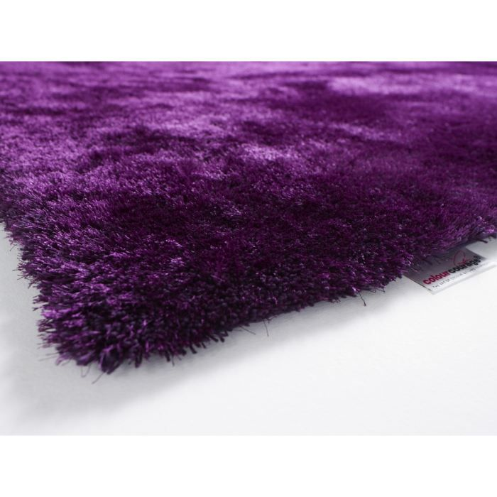 tapis shaggy colour courage aubergine achat vente tapis cdiscount. Black Bedroom Furniture Sets. Home Design Ideas