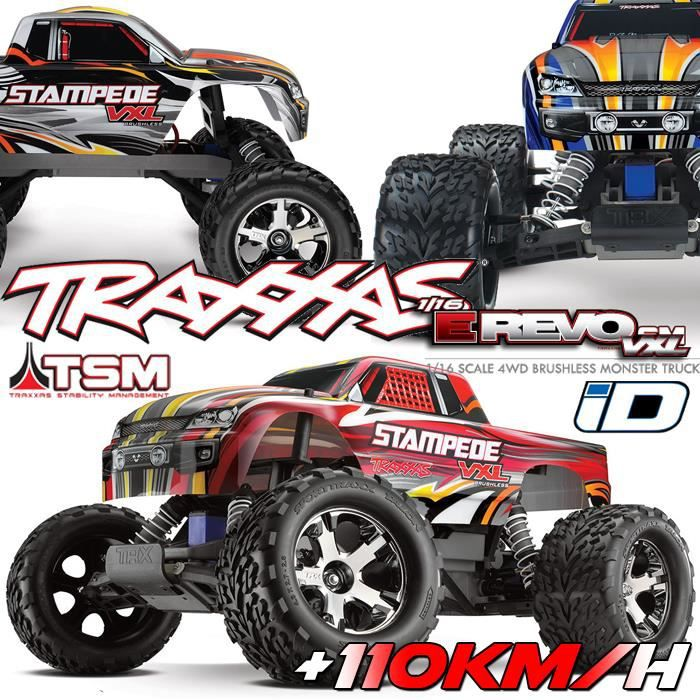 voiture rc monster truck stampede 4x2 1 10 vxl brushless wireless id tsm 1 10 me. Black Bedroom Furniture Sets. Home Design Ideas