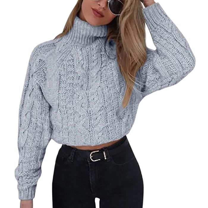 Minetom Pull Femme Automne Hiver Mode Col