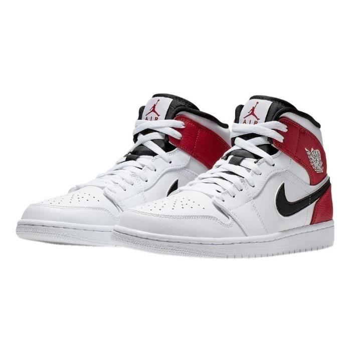 air jordan 1 blanc et rouge