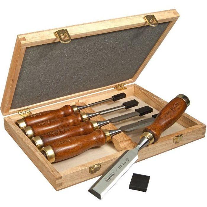 4pcs pratique sculpture sur bois ciseau à main plus ferme gouge ensemble outils