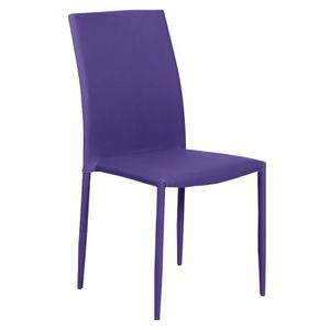 Chaise prune achat vente chaise prune pas cher for Chaise prune