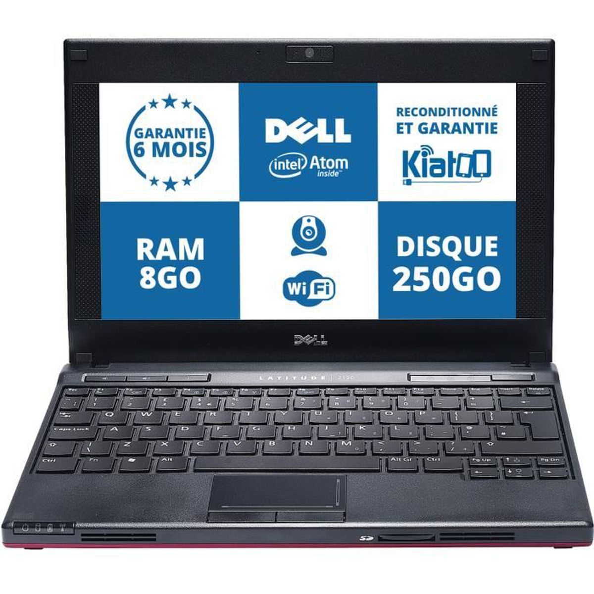 pc portable reconditionn dell latitude 2120 netbook intel. Black Bedroom Furniture Sets. Home Design Ideas