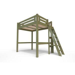 LIT MEZZANINE Lit Mezzanine Alpage bois + échelle hauteur réglab
