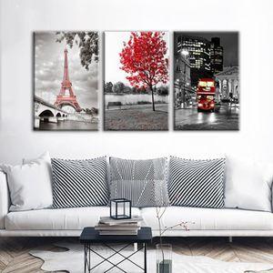 OBJET DÉCORATION MURALE No Frame Paris Moderne Tour Eiffel Voiture Érable