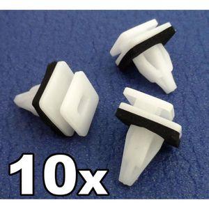 10x Clips pour mini jupes latérales Roue Arches Arrière Garniture Porte Rocker Couvre Plastique