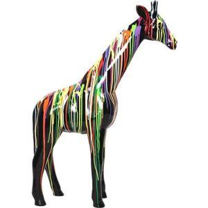 Sculpture Design En Résine Panthère Baghera Multicolore