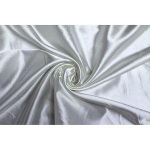 TISSU Tissu Satin Elasthanne Blanc -Au Mètre