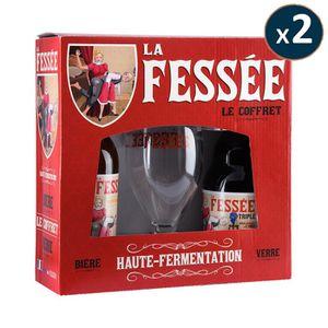 BIÈRE BOX MULTIPLE 2 COFFRETS FESSEE 2*0.33L + 1 VERRE -