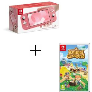 CONSOLE NINTENDO SWITCH Pack Nintendo Switch Lite Corail + Jeu Animal Cros