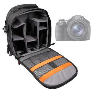 SAC PHOTO Sac à dos noir pour Sony Alpha SLT-A55, DSC-HX200