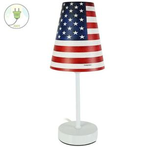 lampe americaine achat vente lampe americaine pas cher cdiscount. Black Bedroom Furniture Sets. Home Design Ideas