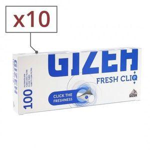 TUBE À CIGARETTE 10 boites de 100 tubes gizeh fresh cliq