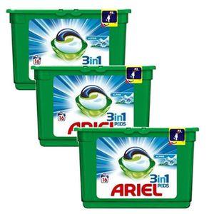 COUCHE Lot de 3 Ariel Pods 16 Original 3in1 (454,4 gr)