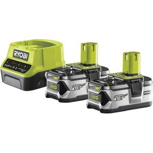 BATTERIE MACHINE OUTIL RYOBI Lot de 2 Batteries 18V 4Ah + Chargeur 2A