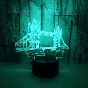LAMPE A POSER ~144^@3D Lampe La Tour Illusion Optique LED Veille