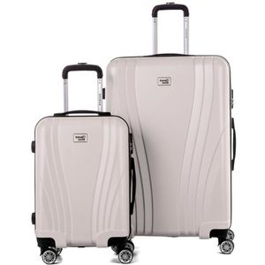 VALISE - BAGAGE TRAVEL WORLD Ensemble de 2 Valises 50/80cm avec 4