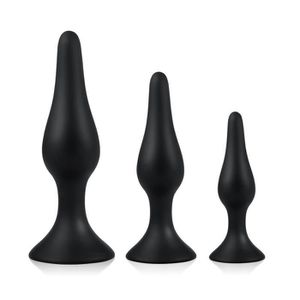 LIVRE SEXUALITÉ Plugs en Silicone Noir 3 Pièces pour Relaxation An