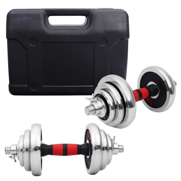 1 boîte d'haltères mis en forme haltère poids lourds équipement d'exercice d'entraînement