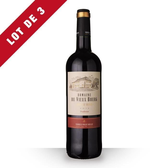 3x Domaine du Vieux Bourg 2016 AOC Côtes de Duras - 3x75cl - Vin Rouge