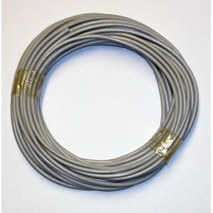 Fil électrique souple gris 1.5 mm² 10 mètres