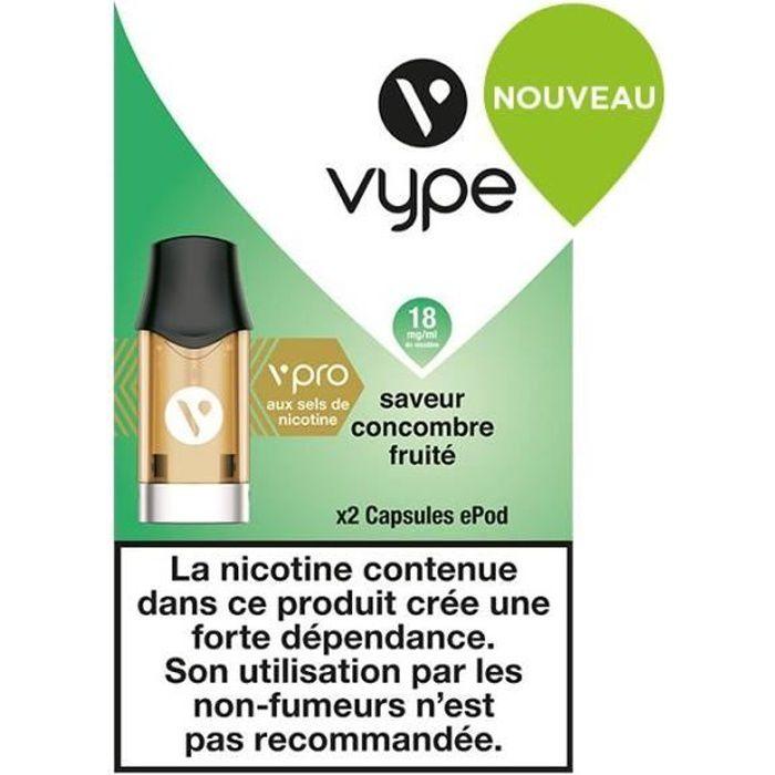 2 Capsules Vype ePod Saveur Concombre Fruité 18 mg