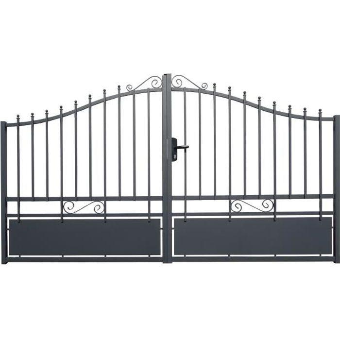 portail alu -Glasgow- 3m