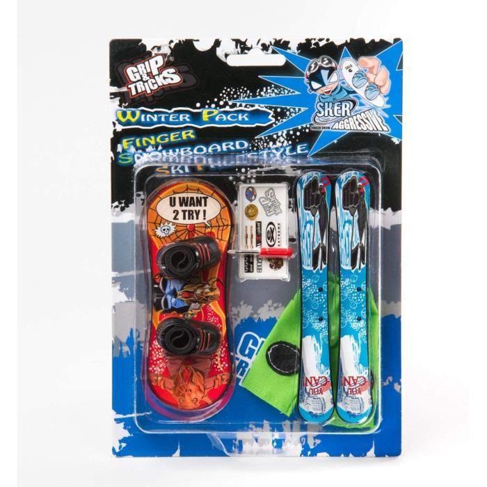 Le pack Finger Ski et Snowboard à customiser pour réaliser des tricks comme les pro !