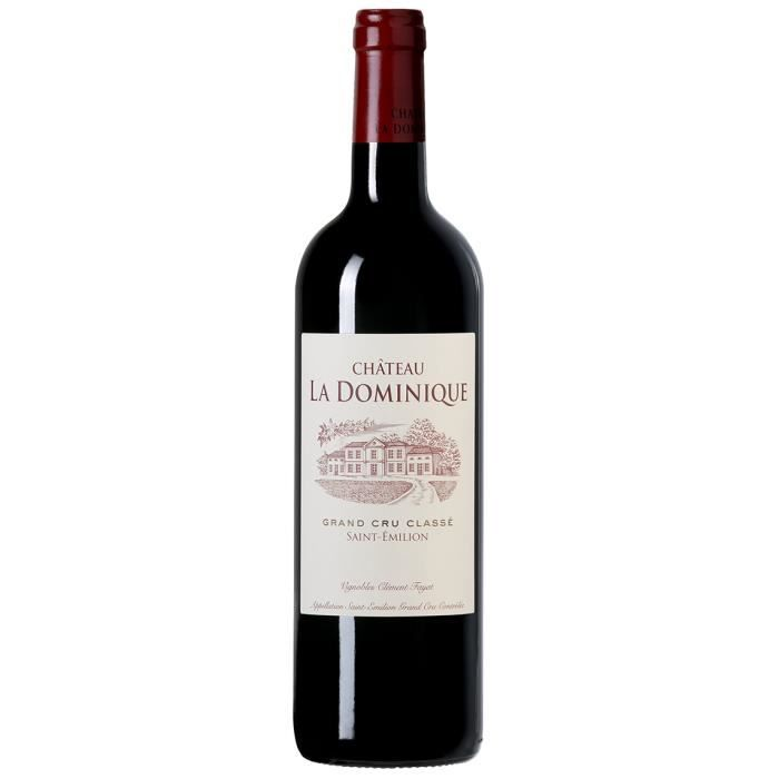 Château La Dominique 2016 - vin rouge - Saint Emilion Grand Cru Classé AOC -1 bouteille.