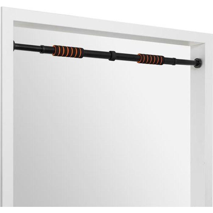 Faultier - Barre de traction télescopique pour cadre de porte - réglable de 72 á 105 cm - Jusqu'à 100 kg - Acier noir