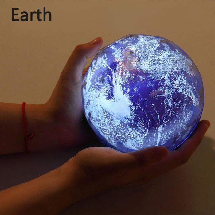 Ciel étoilé veilleuse planète magique projecteur terre univers lampe à LED coloré rotatio - Modèle: Earth Not Rotate - HYPDXCB05627