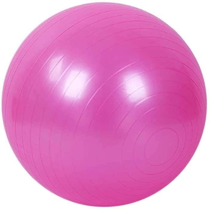 Ballon de Gymnastique Balle d'Exercice Fitness,Ballon Gym avec Pompe Antidérapant pour Pilates, l'exercice,Yoga (Rose 75cm)