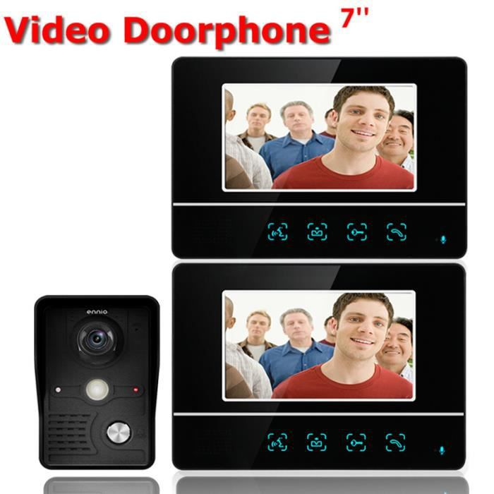 7 Inch TFT Touch Screen Wired Color LCD Video Door Phone Video Intercom 2 Monitor Doorbell Intercom system