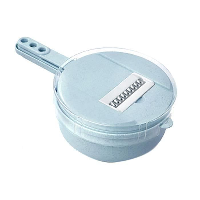 Blue - Hachoir multifonctions Machine à éplucher Râpe Drain de légumes