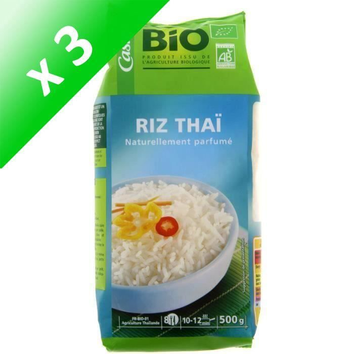 [LOT DE 3] Riz Thai Blanc Bio 500g