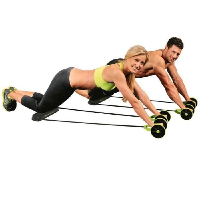 DUYAER Multifonctionnel double rond fitness mini Ab Roller Double AB Wheel Fitness Gym trépans Fitness sculpting sports
