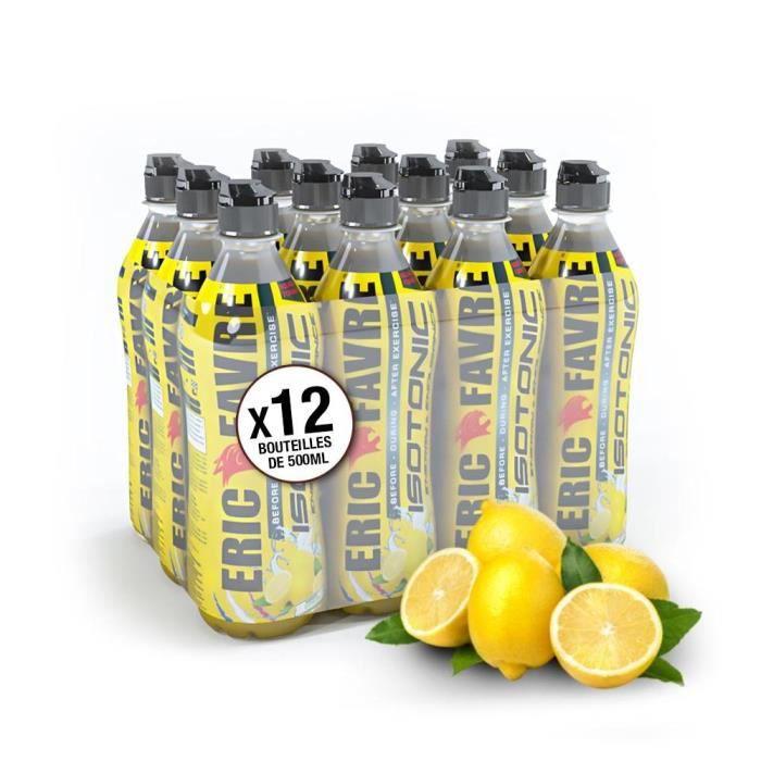 Eric Favre - Boisson Isotonique - Smart Drink - Boissons - Citron - Pack de 12 unités