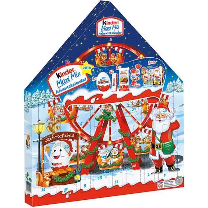 Ferrero Kinder Maxi Mix Calendrier de l'Avent Chocolat Noel 351g