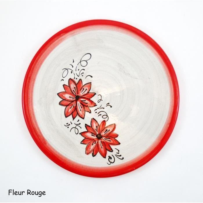 Dessous de plat - Couleur:Fleur rouge