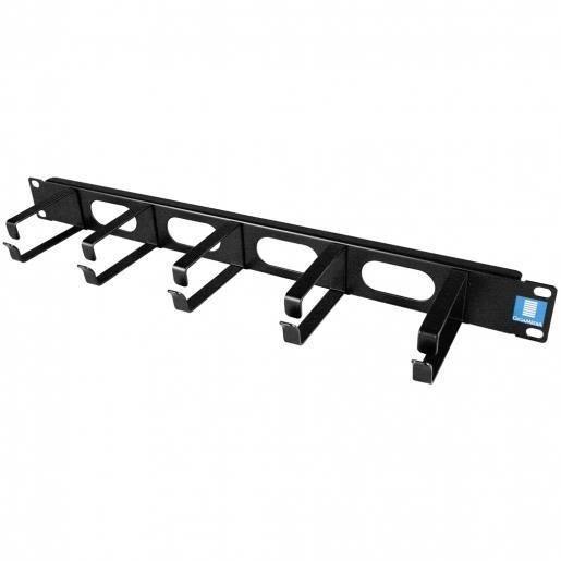 Gigamedia ARPPCA1N - Panneau guide câbles à lyres - 19- - 1U - Noir