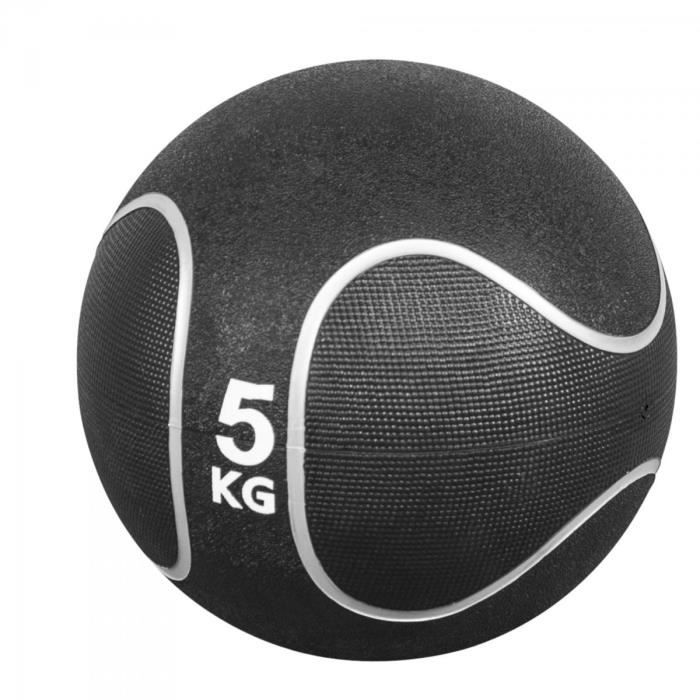 Gorilla Sports - Médecine ball style noir-gris de 1kg à 10kg - 5 KG