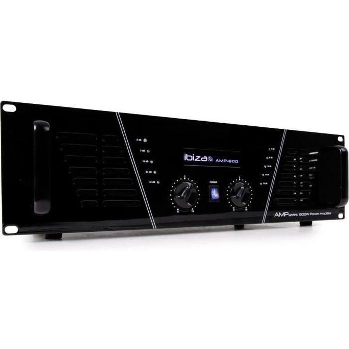 IBIZA SOUND AMP800 Amplificateur de sonorisation 2 x 600w