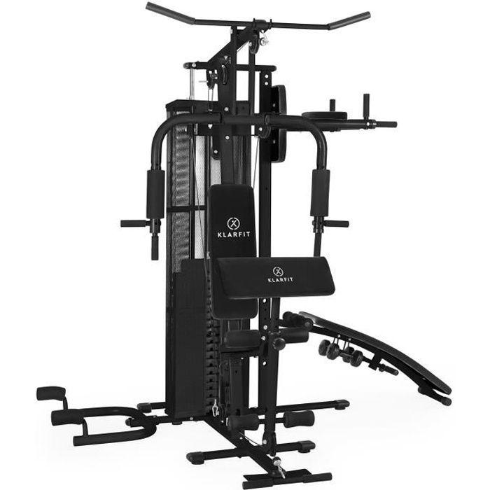 Appareil à charge guidée - Klarfit Ultimate Gym 5000 - poids fournis : 44kg - 50 excercises - noir