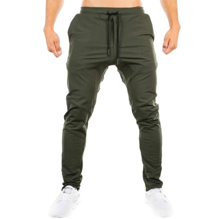 Hommes Sweatpants Casual élastiques Sportwear Slacks Baggy Trousers Jogging WLP2402
