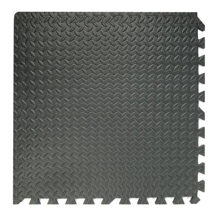 NOIR Tapis de sol de gymnase de mousse de verrouillage professionnels de 48 pièces