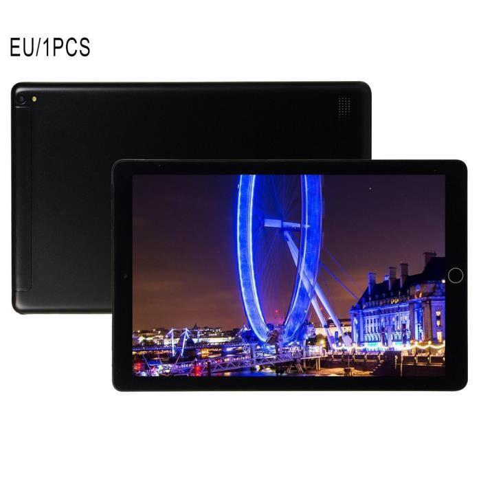 1+16Go Tablette PC 10.1 pouces grand écran double SIM 4G téléphone tablette PC micro WIFI, noir