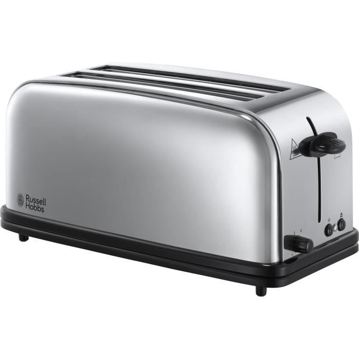 RUSSELL HOBBS 23520-56 Toaster Grille Pain 1600W Victory 2 Longues Fentes Chauffe Viennoiserie Design Rétro