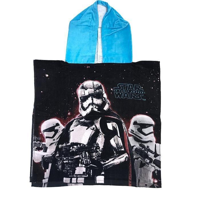 Cape de bain poncho STAR WARS 100% coton serviette bleu