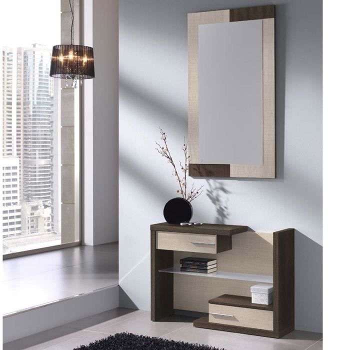 meuble d 39 entr e design juliata miroir offert atylia. Black Bedroom Furniture Sets. Home Design Ideas