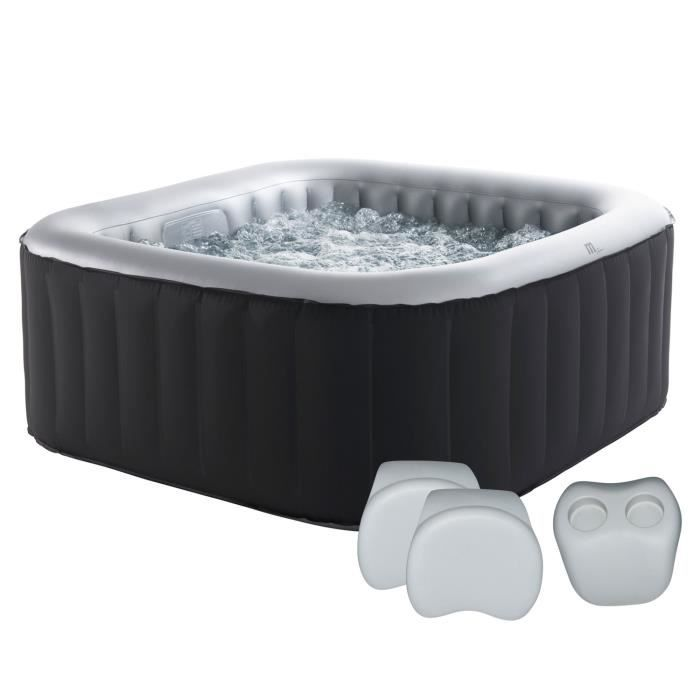 Pack spa carr gonflable alpine 4 places anthracite int rieur gris 2 ap - Jacuzzi gonflable occasion ...